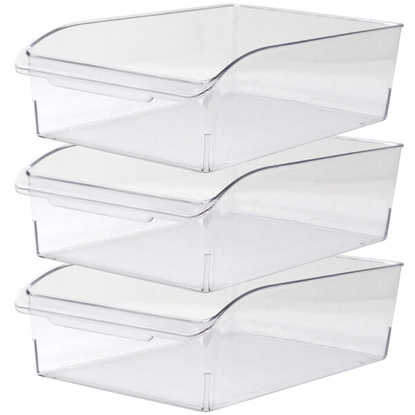 Gourmet Kitchen 3-Piece Fridge Storage Bin Set