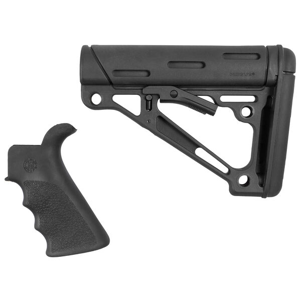 Hogue AR-15/M-16 Two-Piece Furniture Kit Black