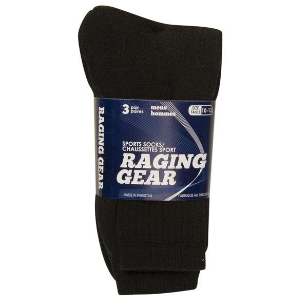 Raging Gear Men's Athletic Crew Socks, 3-Pack