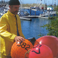 "Commercial Fishing Net Buoy, Yellow (21"" x 27"")"