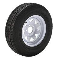 Goodyear Marathon 175/80 R 13 Radial Trailer Tire, 5-Lug White Spoke Rim