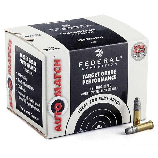 Federal Premium Champion Target AutoMatch Solid Rimfire Ammo, .22 LR, 40 Gr.
