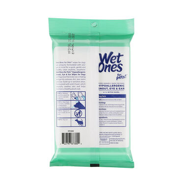 Wet Ones for Pets Dog Wipes for Snout, Eye, and Ear, 30-Count