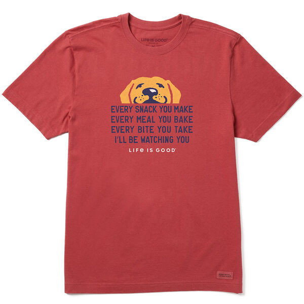 Life Is Good Men's I'll Be Watching You Crusher Short Sleeve Tee