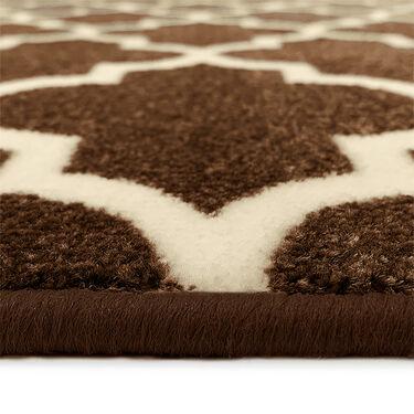 Prest-O-Fit Decorian 2-Piece RV Rug Set, Cocoa Brown