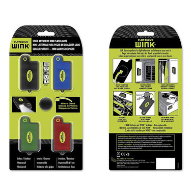 Flateye Wink Mini Flashlights, Pack of 4