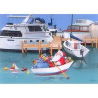 Kersten Brothers Rowing Santa Christmas Cards