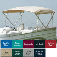"Extra Long Big Top Pontoon Bimini Top, Sunbrella Acrylic, 1-1/4"" Frame 96""-102""W"