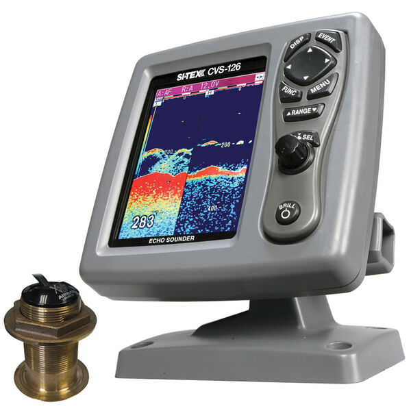 Si-Tex CVS-126 Dual Frequency Echo Sounder With B-60-12-CX 12° TE Transducer
