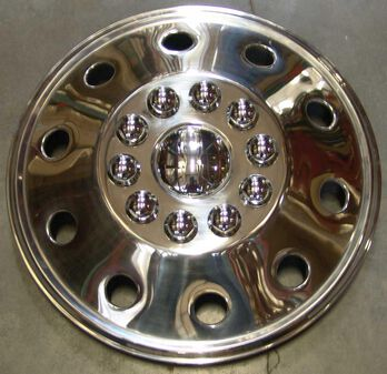"""Namsco Stainless Steel Wheel Covers, Set of 4 - 19.5"""" All Styles"""