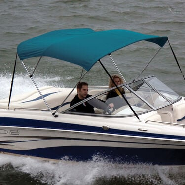 Shademate Polyester Stainless 3-Bow Bimini Top 6'L x 46''H 85''-90'' Wide