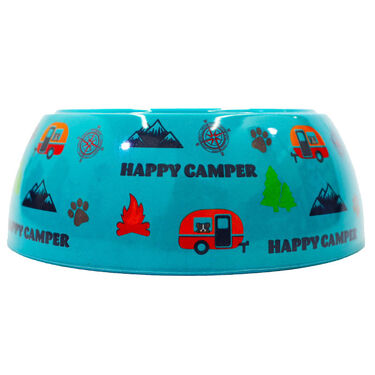 Happy Camper Melamine Pet Bowl