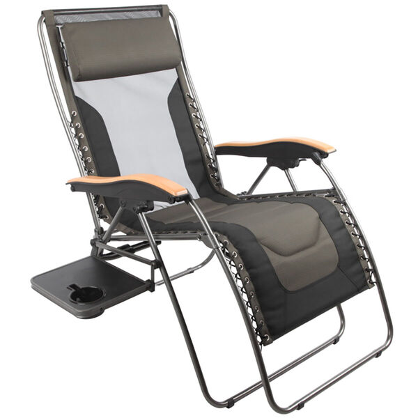 Fabulous Deluxe Zero Gravity Lounger Black Grey Pabps2019 Chair Design Images Pabps2019Com