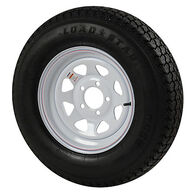 Kenda Loadstar 205/75 x 14 Bias Trailer Tire w/5-Lug White Spoke Rim