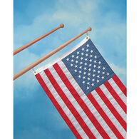 "SeaForce Teak Flag Pole, 18""L, 3/4"" Base Diameter"