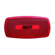 Rectangular Reflector/Clearance/Marker Light - twist-in socket; Red