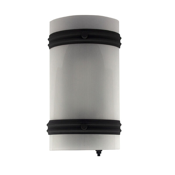 Gustafson LED Sconce with Half Frosted Lens and Switch