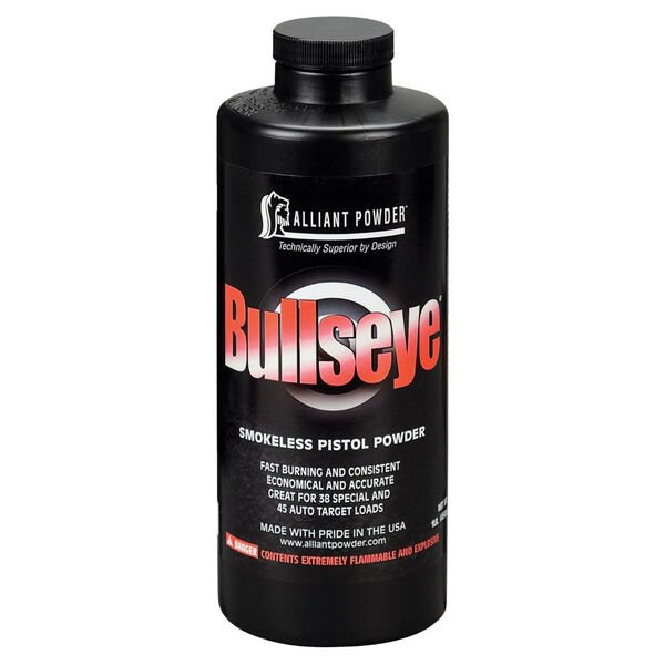 Alliant Powder Bullseye Smokeless Pistol Powder, .45 ACP/.38 Special