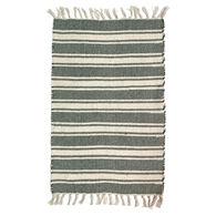 Multi-Striped Cotton Woven Rug