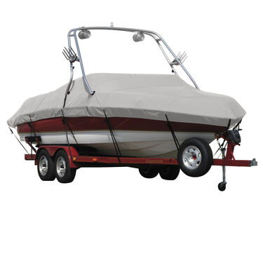 Sharkskin Boat Cover For Malibu Sunsetter Vlx W/Swoop Tower Covers Platform
