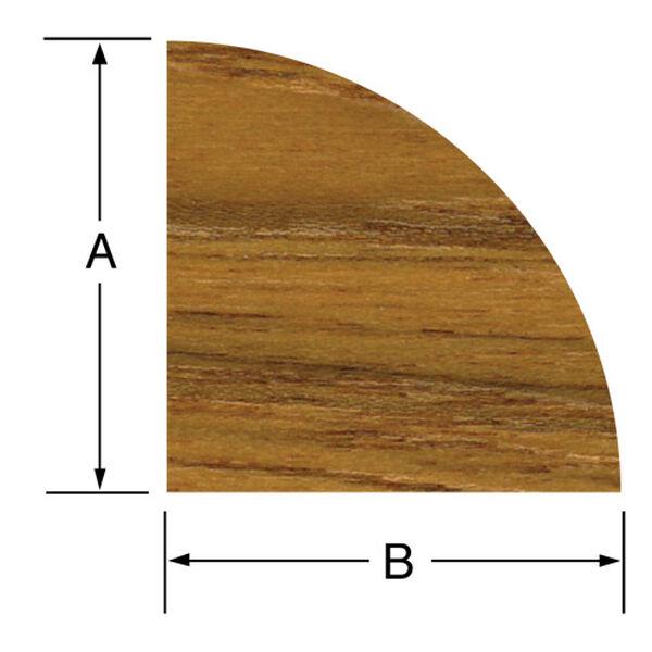 Whitecap Teak Small Quarter Round Molding, 5'L