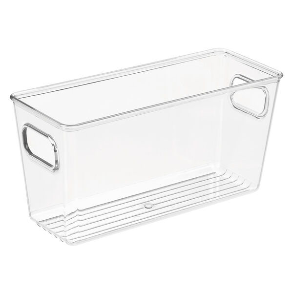 iDesign Chloe Bathroom Storage Bin, Clear