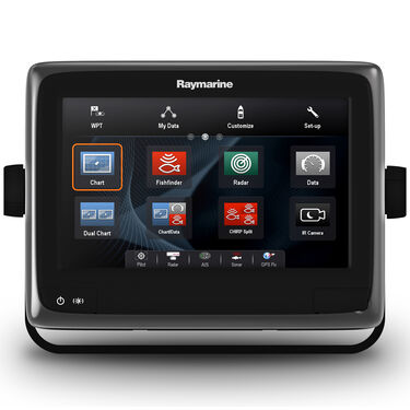 """Raymarine a98 9"""" MFD Combo With US C-MAP Charts And CHIRP/DownVision Sonar"""