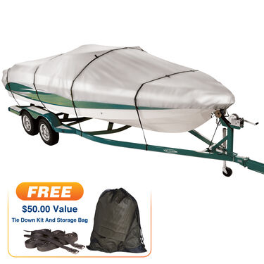 "Covermate Imperial 300 Euro-Style V-Hull Outboard Boat Cover, 18'5"" max. length"