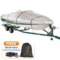 "Imperial 300 Euro-Style V-Hull Cuddy Cabin I/O Boat Cover, 25'5"" max. length"