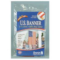 US American Banner Flag, 2-1/2' x 4'