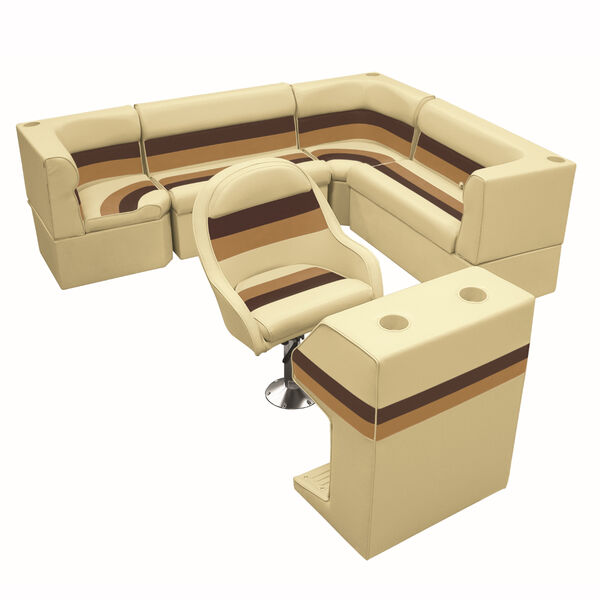 """Toonmate Deluxe Pontoon Furniture w/Classic Base - Rear Big """"L"""" Package"""