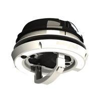 MaxxAir MaxxFan Dome Plus with Cool White LED Lighting, Black