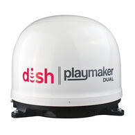 DISH Playmaker Dual Portable Satellite Antenna, White