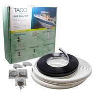 "TACO Marine Semi-Rigid Vinyl Rub Rail Kit, 1-5/8"" X 3/4"", White with Chrome Insert"