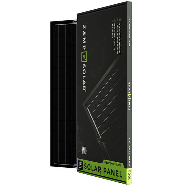 Zamp Solar Obsidian 100-Watt Solar Panel Kit