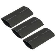 "Ancor Adhesive-Lined Heat Shrink Tubing, 2 - 4/0 AWG, 3"" L, 3-Pk., Black"