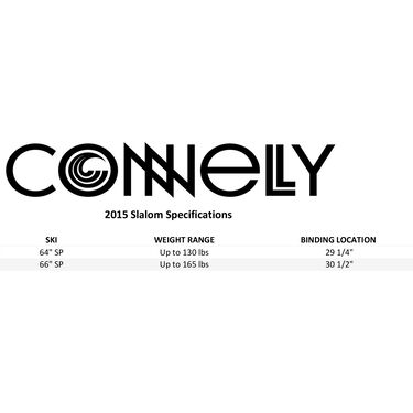 Connelly SP Slalom Waterski With Swerve Binding And Rear Toe Strap