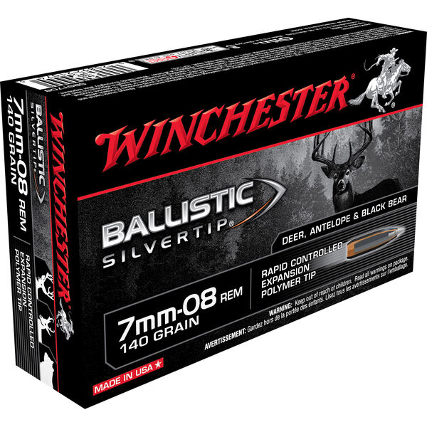 Winchester Ballistic Silver Tip Supreme Centerfire Ammo, 7mm-08 Rem, 140-gr.
