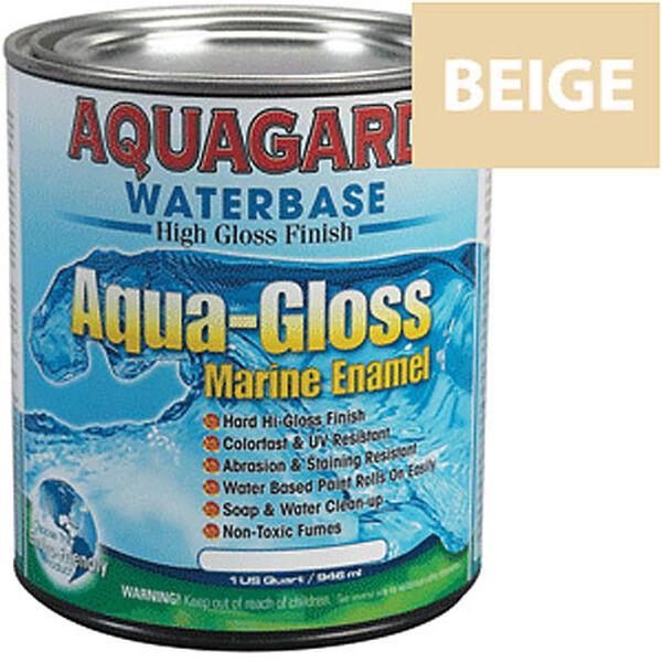 Aquagard Aqua-Gloss Waterbase Enamel, Quart, Down East Buff