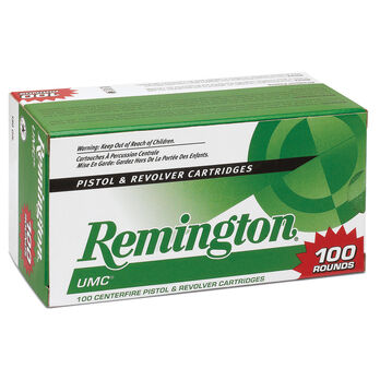 Remington UMC Handgun Ammunition Value Pack, 9mm Luger, 115-gr , FMJ, 100  Rounds