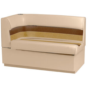 Toonmate Deluxe Pontoon Right-Side Corner Couch - TOP ONLY - Sand/Chesnut/Gold
