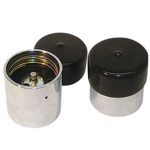 Trailer Bearing Protectors With Covers, pair