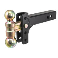 """CURT Slim Adjustable Channel Mount with Dual Ball, 2"""" Shank, 10K"""
