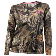 Gildan Women's Camo Long-Sleeve Tee - Mossy Oak Break-Up Country