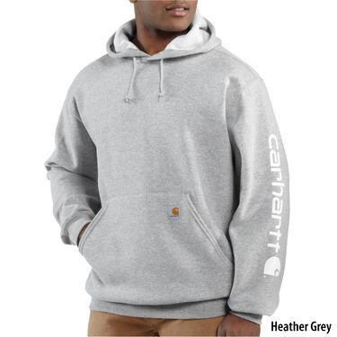 Carhartt Men's Midweight Signature Logo Pullover Hoodie