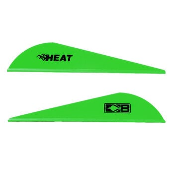 Bohning Heat Vanes, Neon Green, 36-Pack