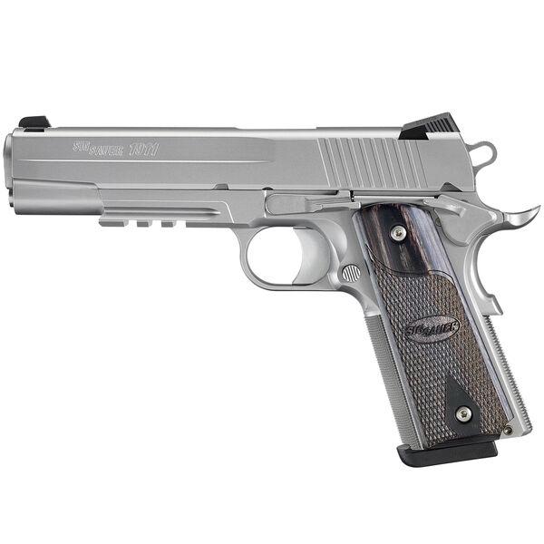 SIG Sauer 1911 Stainless Rail MA Handgun