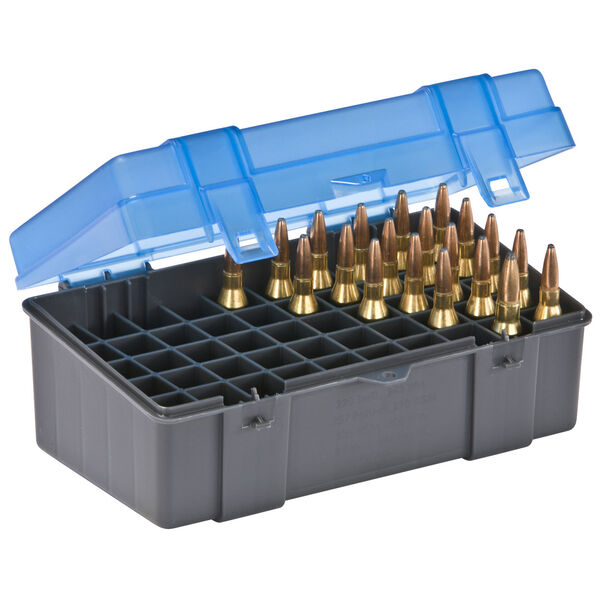 Plano 50-Round Rifle Ammo Case, .220 Swift, .270 WSM, .300 WSM, .243 Win, etc.
