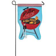 Grillin' & Chillin' Garden Flag