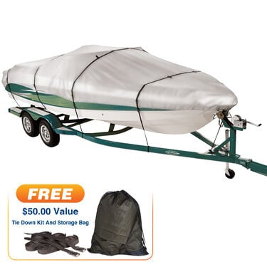 """Imperial 300 Walk-Around Cuddy Cabin Outboard Boat Cover, 20'5"""" max. length"""